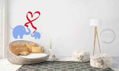 Elephant Heart Love Cut File .SVG .DXF