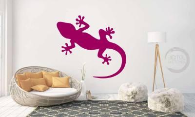 Gecko Lizard Salamander Cut File Vector Silhouette .SVG .DXF