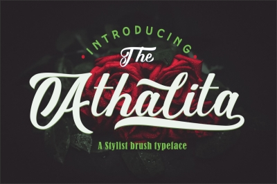 Athalita / Cool brush stylist Font
