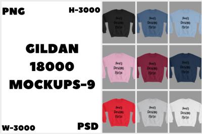 MEGA BUNDLE Gildan 18000 Unisex Mockups