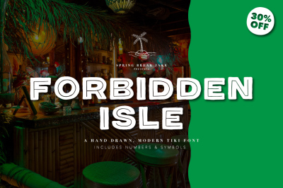 Forbidden Isle Modern Tiki Font