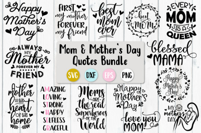 Mother's Day Bundle - SVG, PNG, DXF, EPS