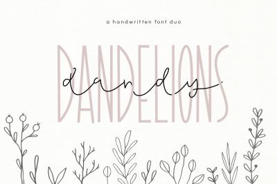 Dandy Dandelions - A Script & Print Font Duo
