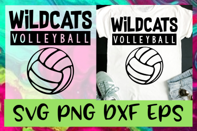 Wildcats Volleyball SVG PNG DXF EPS Design Files