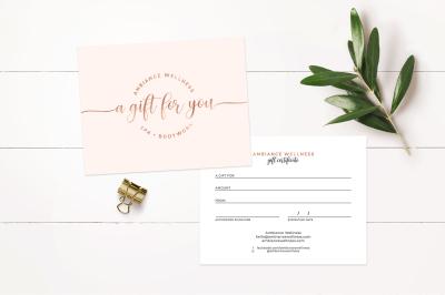 Modern Gift Certificate Template