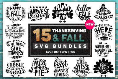 Thanksgiving and Fall SVG Bundle
