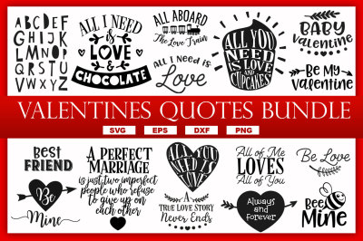 VALENTINES QUOTES & SAYINGS SVG