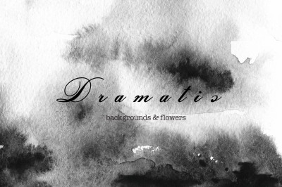 Black dramatic watercolor backgrounds
