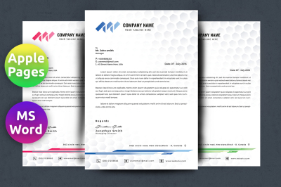 Letterhead Template Word Pages