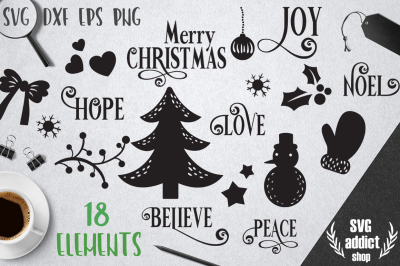 Christmas Elements SVG Pack