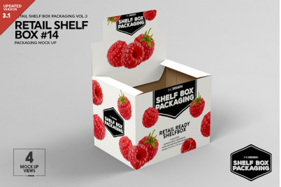 Retail Shelf Box Packaging Mockup  14