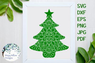 Christmas Tree Mandala SVG