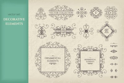 Vector Set of Page Decorations