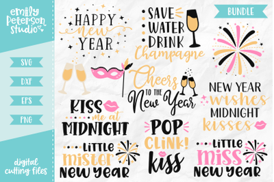 New Year's Eve Bundle SVG DXF - 11 Designs