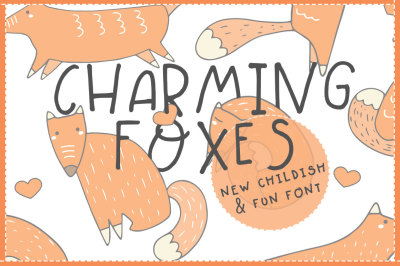 Charming Foxes - Cute Font