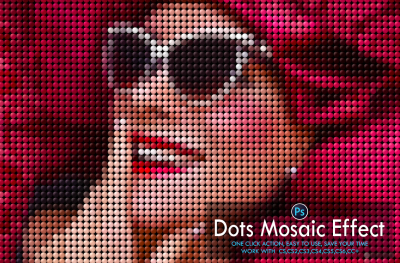 Dots Mosaic Effect Photoshop Action