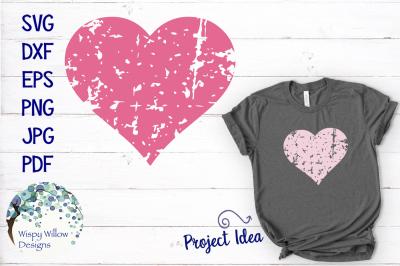 Distressed Grunge Heart | Valentine's Day SVG