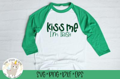Kiss Me I'm Irish SVG Cut File