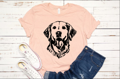Lab SVG Labrador dog head Dog retiever Puppy Breed 1138S