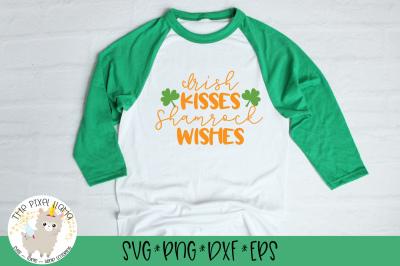 Irish Kisses Shamrock Wishes SVG Cut File