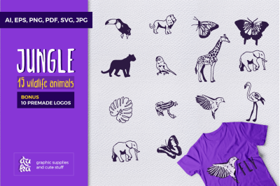 JUNGLE - wildlife animals SVG