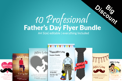 10 Fathers Day Flyers Bundle