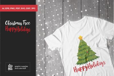 Christmas Tree, X-mas, Happy Holidays SVG Cut Files