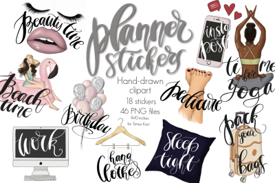 Planner Stickers Clipart Collection