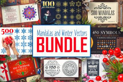Mandalas and Winter Vectors Bundle
