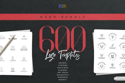 Mega Bundle - 600 Logo Templates