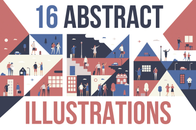 Abstract flat Illustrations