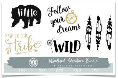 Woodland Adventure Baby SVG Bundle