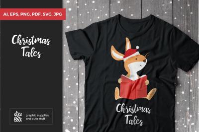 Christmas Tales SVG, X-mas Bunny