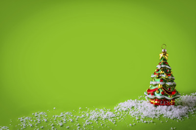 Christmas background with Christmas tree ornament.
