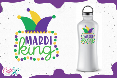 Mardi king, mardi gras svg for crafters