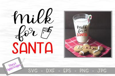 Christmas SVG file - Milk for Santa SVG