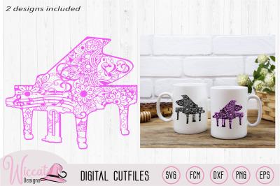 Doodle Piano design, Music notes, Music svg, women shirt, scanncut fil