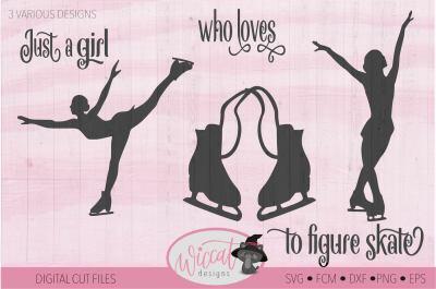 Girl figure skate, Ice skate svg, Figure skate svg,
