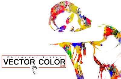Vector Color  ART Photoshop Action
