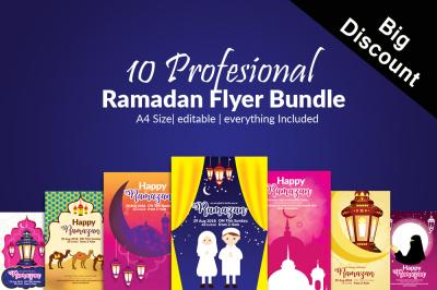 10 Ramadan Flyers Bundle