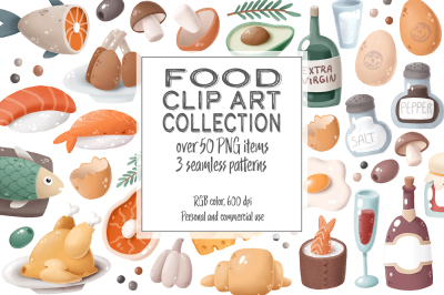 Food clip art collection