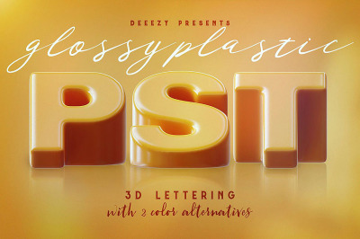 Glossy Plastic – 3D Lettering