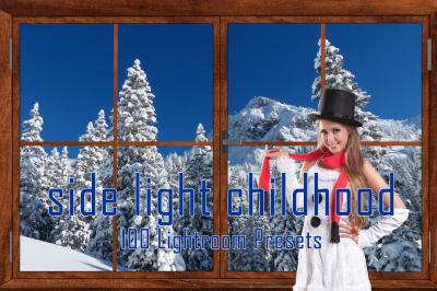 100 Side Light Childhood Lightroom Presets