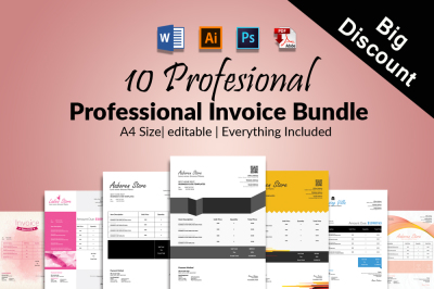 10 word Business Invoice Bundle
