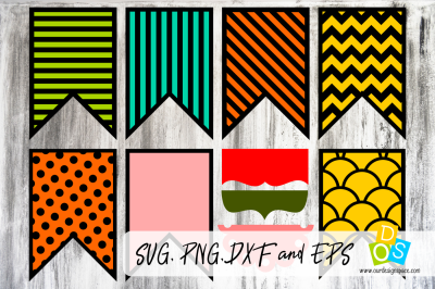 Banner Bundle SVG, PNG, DXF and EPS