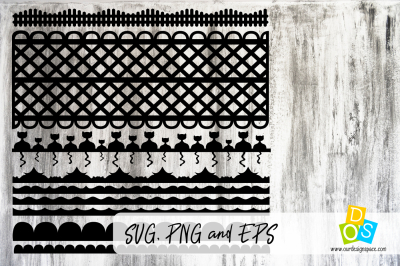 Borders SVG, PNG and EPS file