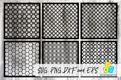 Stencil Bundle SVG, PNG, DXF and EPS files