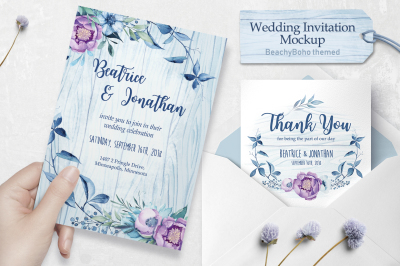 Wedding invitation - BeachyBoho
