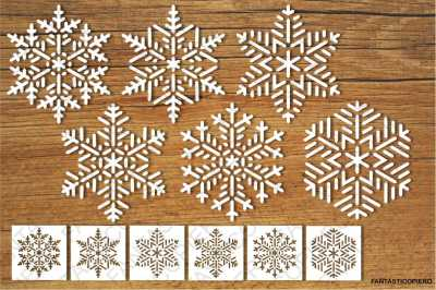 Snowflakes and Stencils SVG files