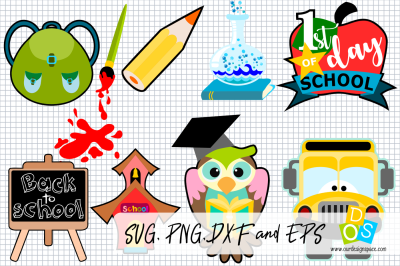 Back To School SVG, PNG, DXF and EPS files